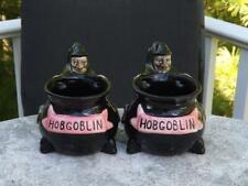 2 Hobgoblin Witch Mugs Planters Halloween Wychwood Brewery