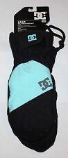 DC LEAR Women's Poly Insulated Mitt Black/Blue Snow Mittens Gloves Sz L/XL **