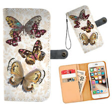 Funda tipo billetera de teléfono Multi Mariposas Iphone Samsung Htc Motorola Lg Google Pixel