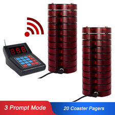 Wireless Paging Queuing Calling System Waiter Transmitter&20*Guest Call Pagers