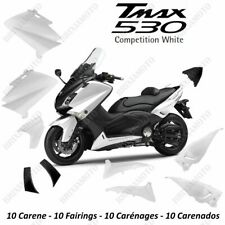 KIT CARENE SCOCCHE PLASTCHE YAMAHA TMAX T-MAX 530 2012 14 BIANCO LUC COMPETITIO