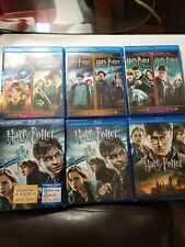 Harry Potter Blu Ray 1-6 and deathly hallows 1&2 bundle