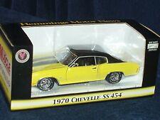 CROWN PREMIUMS 1970 CHEVY CHEVELLE YELLOW/BLACK 1/24