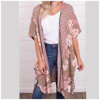 Angie  Boho Floral Print Kimono NWT S M L