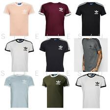 Para Hombre Adidas Originales Trébol Camiseta Cuello Redondo Retro de California Camiseta Top