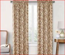 2 Panels - ARRUDA Window Panel Curtain - 40 x 84 Each Natural Tan Floral 🌟NEW🌟