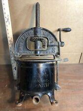 Vintage No 31 Enterprise 6 Qt Lard Press Sausage Stuffer