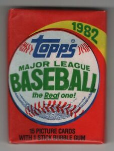 1982 Baseball Topps Unopened Wax Pack 100% Unsearch Great condition   14.99$
