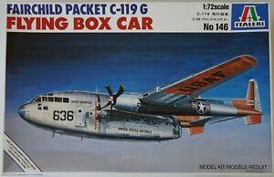 Italeri 146 1/72 Fairchild Packet C-119G Flying Box Car model - damaged decals