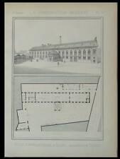 ROUEN, ECOLE D'APPRENTISSAGE - 1889 - PLANCHE ARCHITECTURE - TOUZET