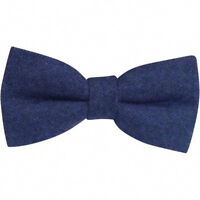 Nuovo Buio Blu Navy Lana Tweed Pre-legato Uomo Fiocco, Great Reviews. UK