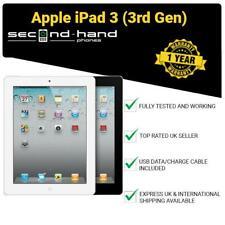 "Apple iPad 3 (3rd Gen) 16/32/64GB wi-fi or 3G Cellular Unlocked 9.7"" Black/White"