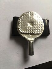 Ping Pong Battered Bat TG223 Fine English Pewter on a Money Clip Black