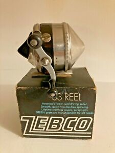 Vintage Zebco 33 Reel with Box.