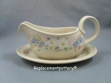 Poole Springtime gravy boat & stand.