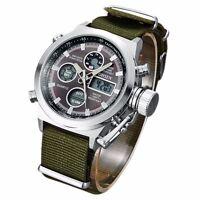 OHSEN Casual Men's Date Quartz Wrist Waterproof Watch Countdown Stopwatch Alarm