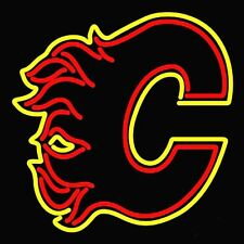 "New Calgary Flames Hockey Beer Neon Sign 24""x20"" Ship From USA"