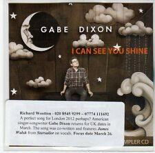 (EE761) Gabe Dixon, I Can See You Shine - 2012 DJ CD