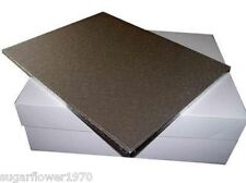 "18 x14 "" inch large oblong rectangle cake drum board and box FAST DESPATCH"
