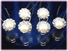 Accessoire mariage 6 Crochets Epingles pics cheveux chignon cristal perle