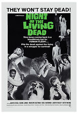 Night of the Living Dead: George A. Romero Movie Poster 1968 Large Format 24x36