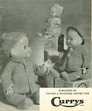 """Knitting Pattern Doll Clothes 5 Outfits For The 10""""  14""""  & 16"""" Dolls All Pictur"""