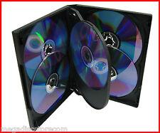 NEW! 18 Pk 22mm 6 Tray Premium DVD Movie Game Case Black Multi Discs overlap