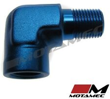 "Motamec 1/8"" NPT 90 Degree Female to Male Elbow Alloy Adapter Fitting"