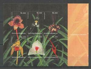 H0648 ANTIGUA & BARBUDA FLORA FLOWERS CARIBBEAN ORCHIDS KB MNH