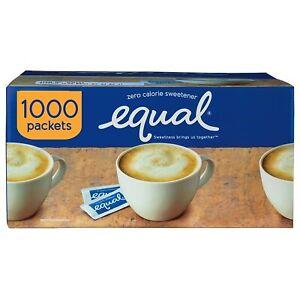 EQUAL 0 Calorie Sweetener, Sugar Substitute, Zero Calorie 1000 Count