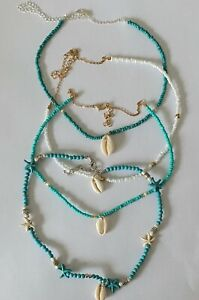 Boho Seeds Beaded Strand With Shell  Necklace Ladies Jewellery
