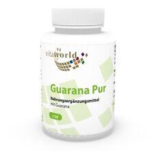 Guarana pure 500mg 120 Capsules Vita World German pharmacy production