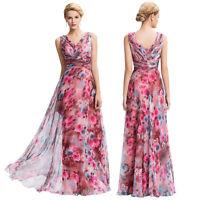 Mujer Floral Bodas Largo de noche vestidos Baile Fiesta Formal Dama Honor