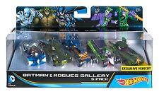 Hot Wheels DC Comics Batman and Rogues Gallery Vehicle, 5 Pack   djp11