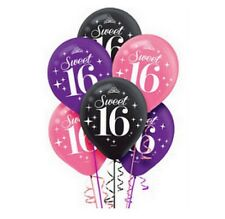 Sweet Sixteen 12 inch Helium Quality Latex Balloons (6 pack) - 111466