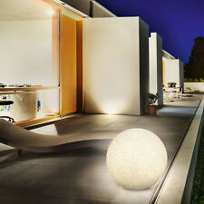 Solaire Boule Lumineuse 50cm Aspect Pierre Lampe Jardin Granite, Esotec 106022