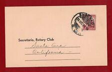 1939 Mexico Rotary Cover Mexico to California Rare