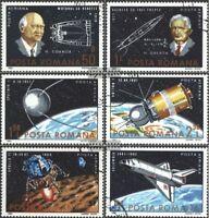 Rumänien 3933-3938 (kompl.Ausg.) gestempelt 1983 25 Jahre Weltraumfahrt