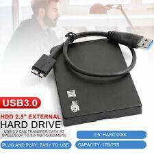 "Portable Slim eSATA 2TB Hard Disk Drive HDD 2.5"" External USB3.0 7200RPM Ultra"