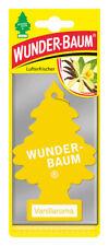 Wunderbaum® 10 Stück Vanillaroma Lufterfrischer Duftbaum Duft Auto Vanille