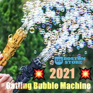 Gatling Bubble Machine Bubbler Maker Safe Summer Cooling Fan Outdoor For Kid