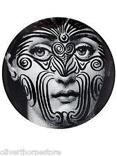Rare Fornasetti JULIA Tribal TATTOO Face PLATE Piero Fornasetti NIB