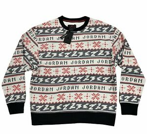 Air Jordan 'Ugly Holiday Sweater' Crew Sweatshirt, Size XL NWT CT3459-010