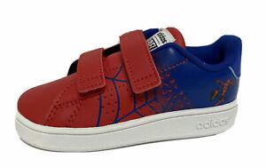 Adidas Advantage I Marvel Spider-Man youth Little kid Red Blue White Tennis Shoe