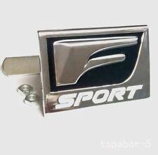 NEW 3D Metal Chrome F SPORT Grill Badge Emblem Silver Racing logo