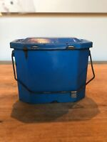 Vintage FRENCH ENAMELWARE Metal Lunchbox,1930s-50s