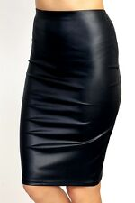 Women's Skirt Faux Leather Clinging Pencil Skirt