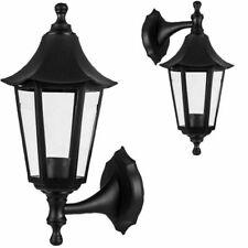 Kenable Wall-Mounted Outdoor Lantern Style Lamp - Black (009654)