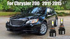 LED For Chrysler 200 2011-2015 Headlight Kit 9012 HIR2 6000K Bulbs Hi/Low Beam
