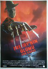 Freddy's Dead 1991 Freddy Krueger Robert Englund Horror Vintage Movie Poster